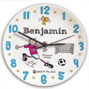 Personalised Bang on the Door Football Crazy Clock