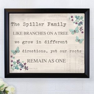 Personalised Forget Me Not Print