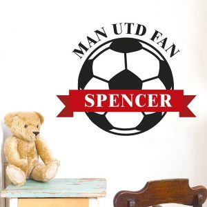 Personalised Red Football Wall Art
