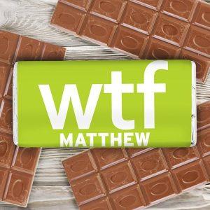Personalised WTF Chocolate Bar