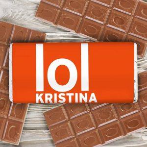 Personalised LOL Chocolate Bar