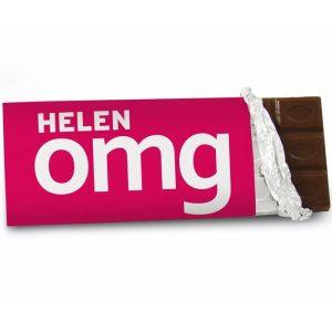 Personalised OMG Chocolate Bar