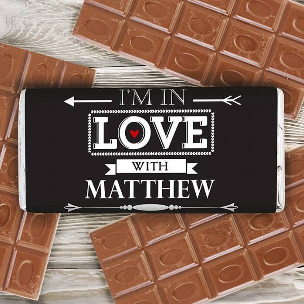 Personalised In Love With Chocolate Bar