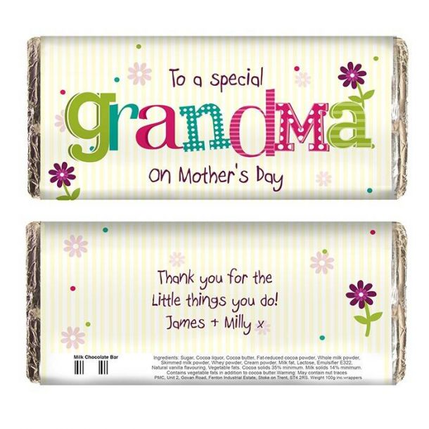 Personalised Patchwork Mother's Day Chocolate Bar