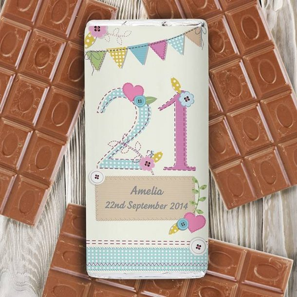 Personalised Birthday Craft Chocolate Bar