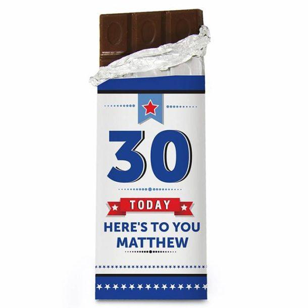 Personalised Birthday Star Chocolate Bar