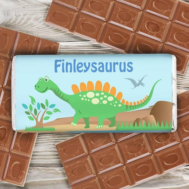 Personalised Dinosaur Chocolate Bar