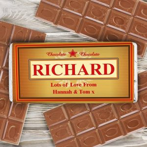 Personalised Luxury Chocolate Bar