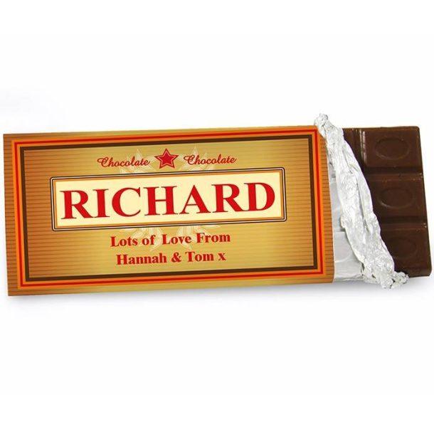 Personalised Luxury Chocolate Bar