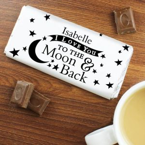Personalised To the Moon and Back Chocolate Bar