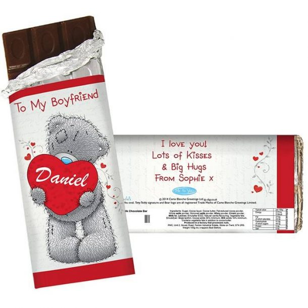 Personalised Me to You Heart Chocolate Bar