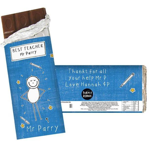 Personalised Male Teacher Chocolate Bar