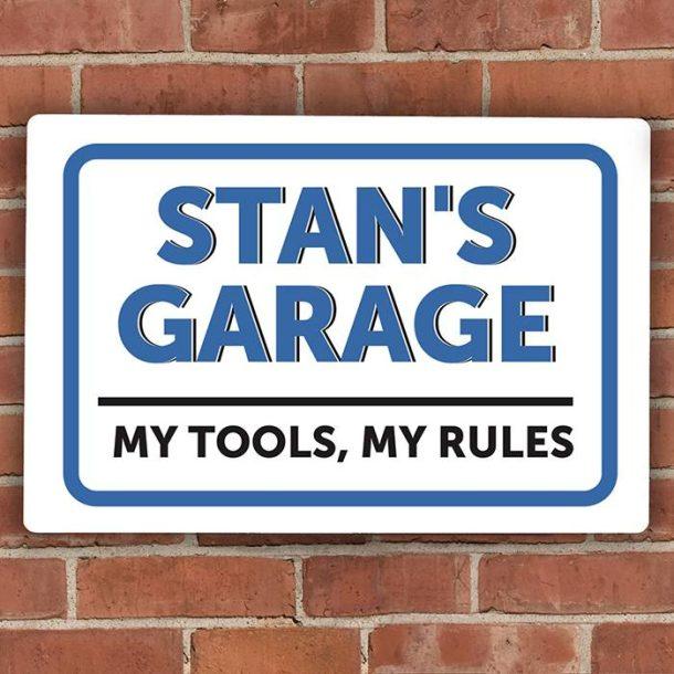 Personalised Garage Plaque