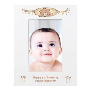 Personalised Teddy White 6x4 Frame