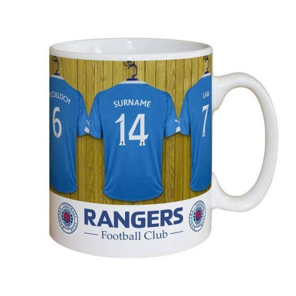 Personalised Rangers Dressing Room Mug
