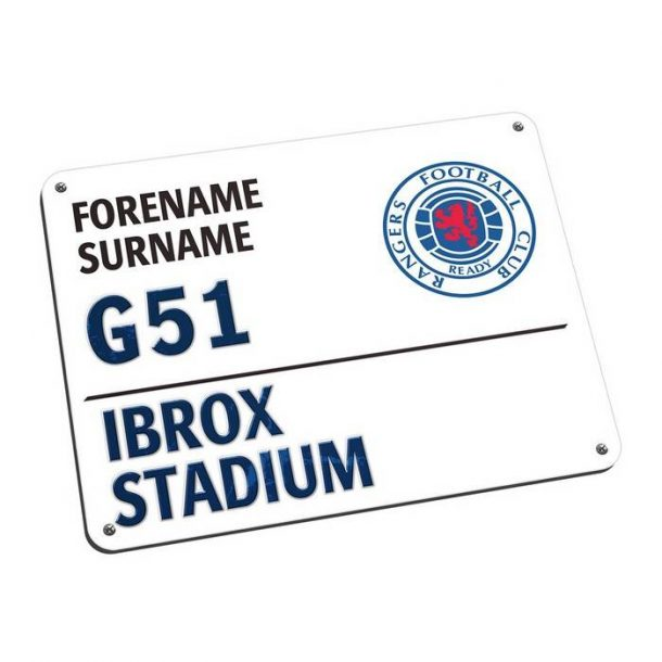 Personalised Rangers FC Street Sign Mousemat