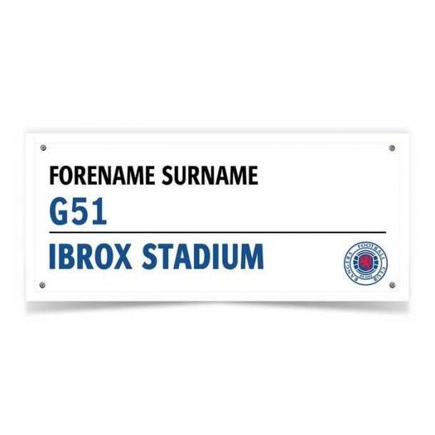 Personalised Rangers FC Street Sign Mug