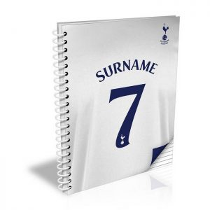 Personalised Spurs FC Shirt A5 Notebook