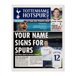 Personalised Tottenham Hotspurs FC Newspaper