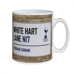 Personalised Spurs FC Street Sign Mug