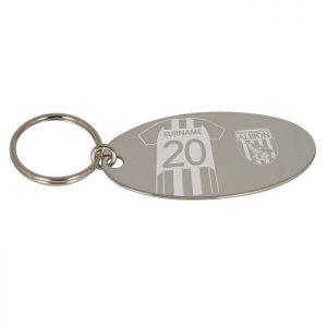 Personalised West Bromwich Albion FC Shirt Key Ring