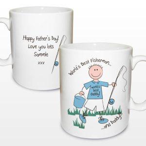 Personalised Worlds Best Fisherman Mug