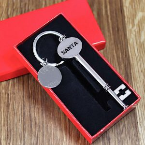 Santa's Engraved House Key with Gift Box