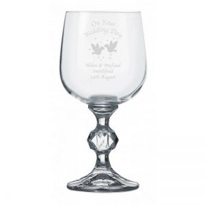 Personalised Doves Wine Glass